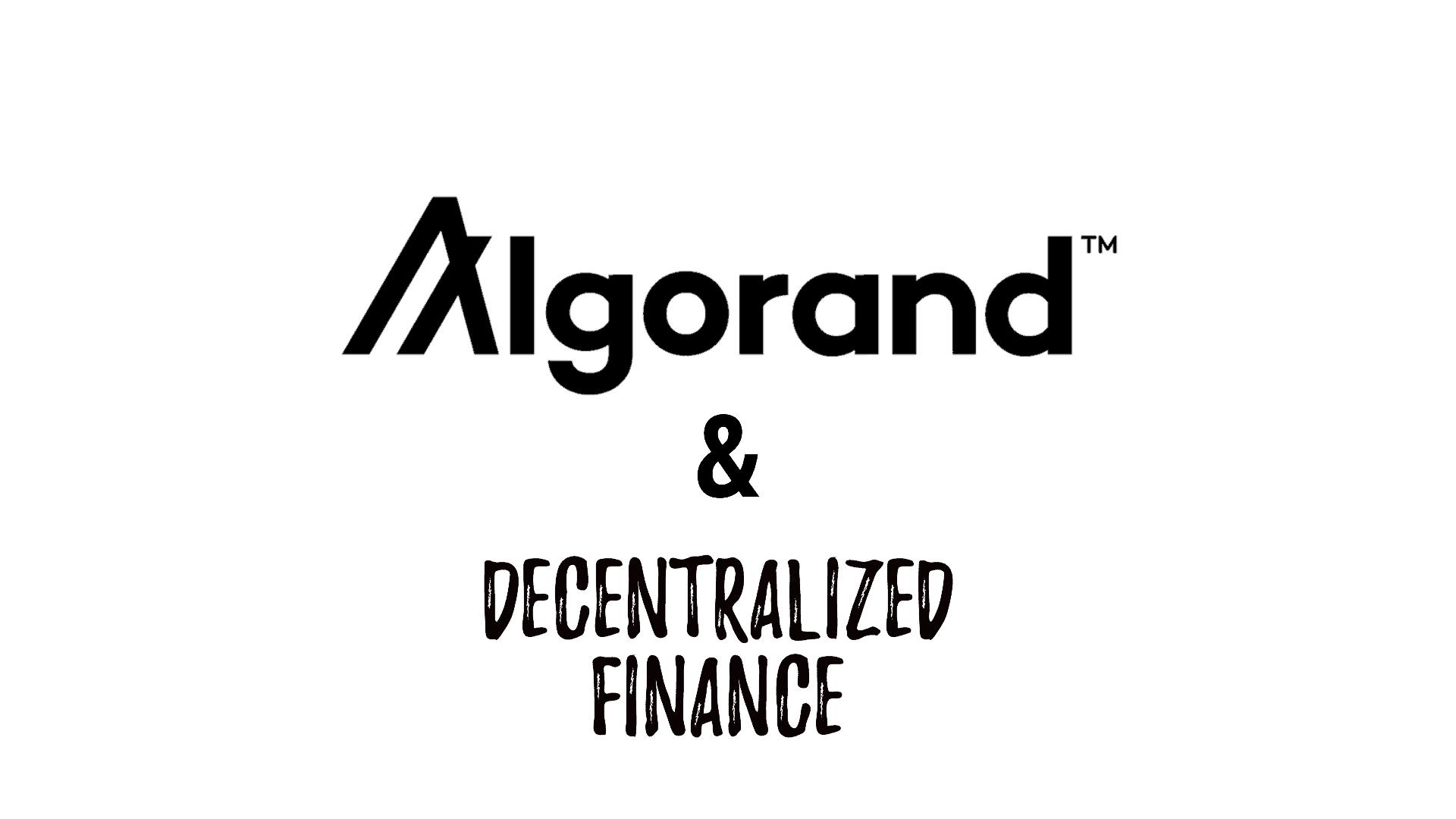 algorand decentralized finance