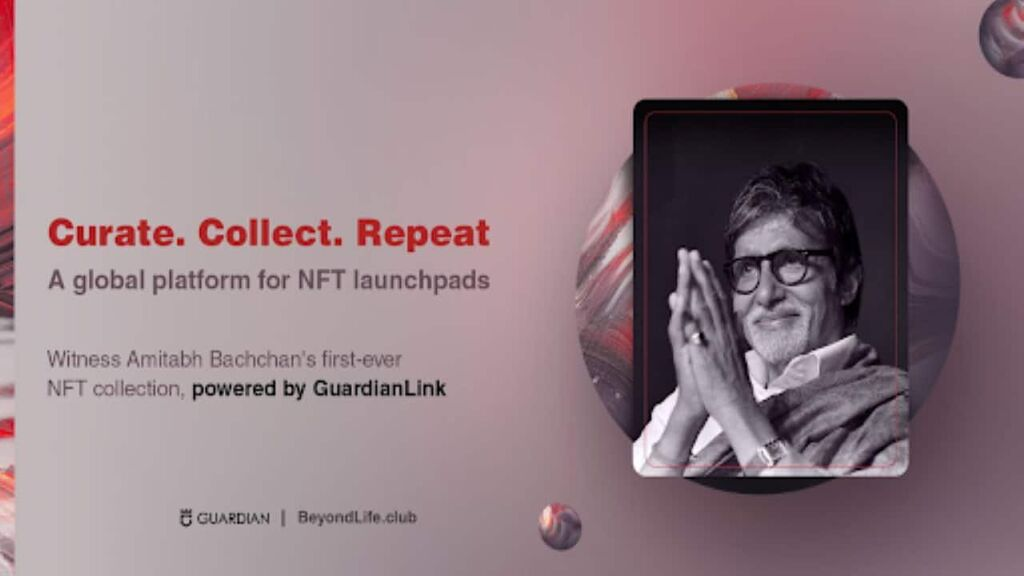 Guardian Link Announces Partnership With BeyondLife.Club, Launching Amitabh Bachchan's NFT Collection